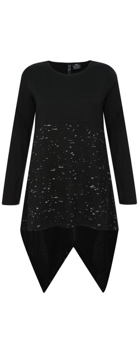 Foil Merino Wool Splatter Top Black Splatter
