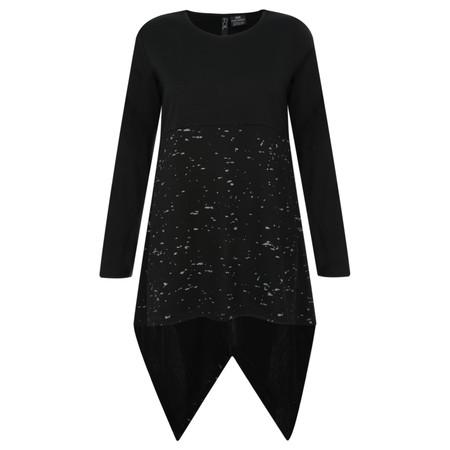Foil Merino Wool Splatter Top - Black