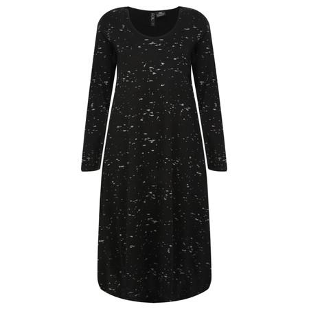 Foil Merino Wool Splatter Dress - Black
