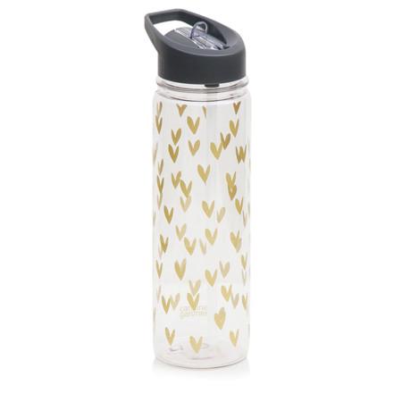 Caroline Gardner Hearts Water Bottle - Gold