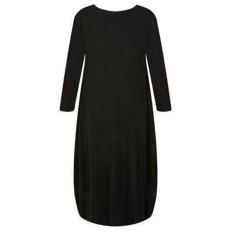 Foil Jersey Dress - Black