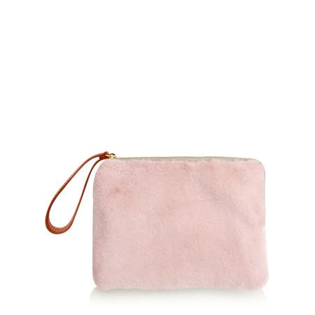 Caroline Gardner Faux Fur Clutch - Pink