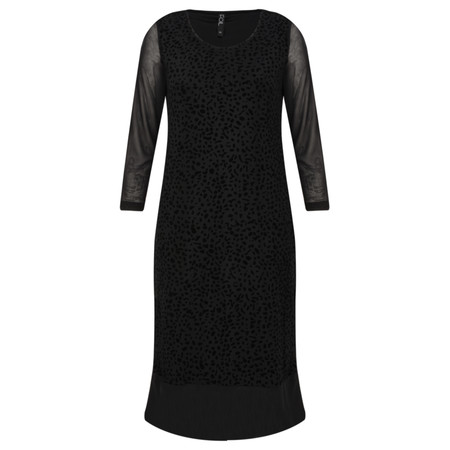 Foil Dotti Dress - Black