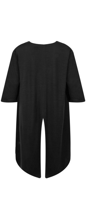 Foil Merino Wool Top Black