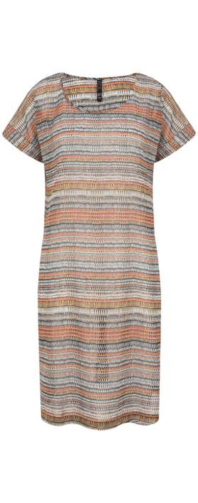 Foil Abstract Stripe Printed Tunic Mimick Multi