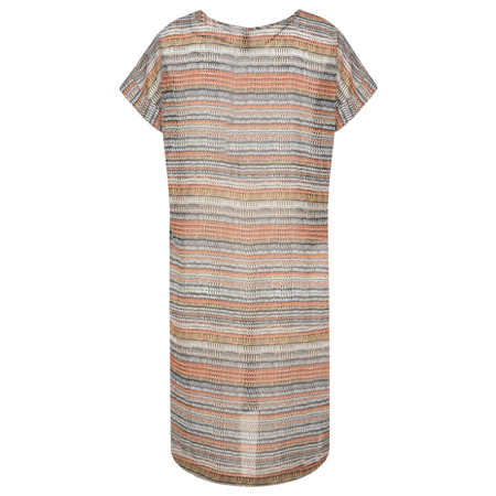 Foil Abstract Stripe Printed Tunic - Multicoloured