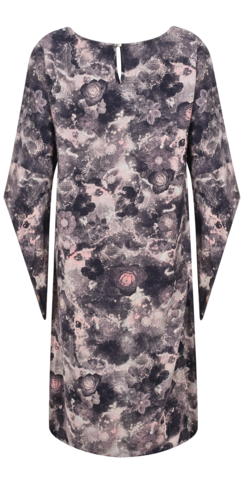 Floral Printed Funnel sleeve Dress main image