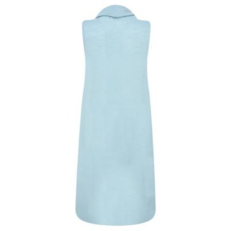 Foil Merino Wool sleeveless Tunic - Green
