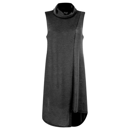 Foil Merino Wool sleeveless Tunic - Grey