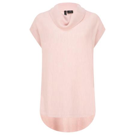 Foil Poncho Jumper  - Pink