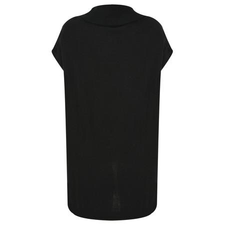 Foil Poncho Jumper  - Black
