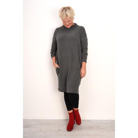 Mama B Oversized Bilbao Stripe Midi Knit Dress - Grey