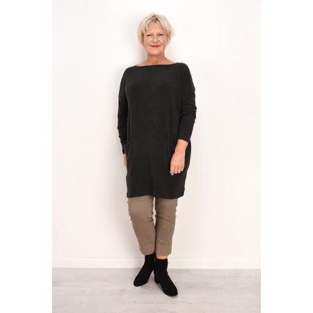 Mama B Oversized Gijon Plain Knit Top - Grey