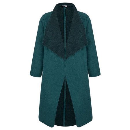 Thing Felt Waterfall Coat - Blue