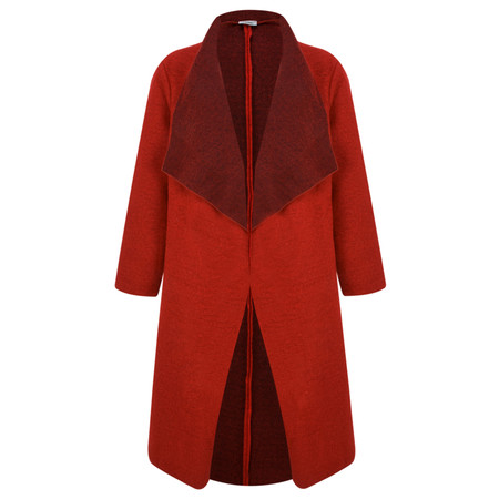 Thing Felt Waterfall Coat - Red