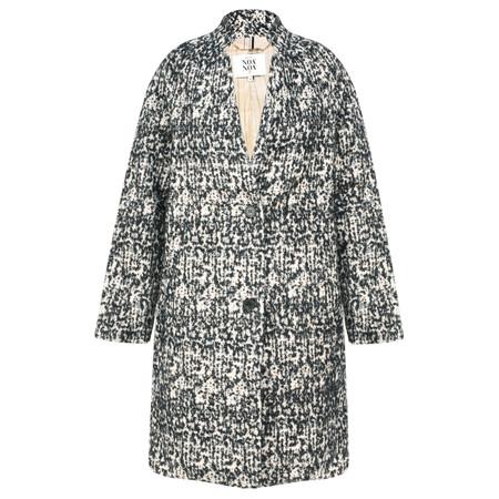 Noa Noa Speckled Wool Pea Coat - Black