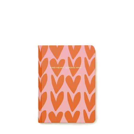 Caroline Gardner Hearts Hardback Notebook - Pink