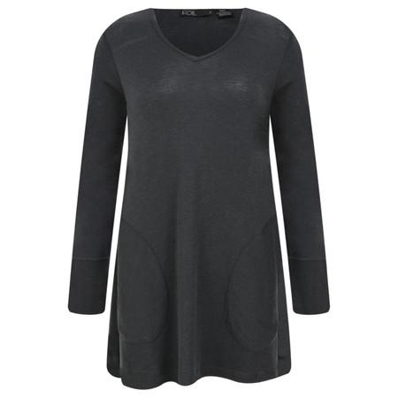 Foil Merino Wool Top - Grey