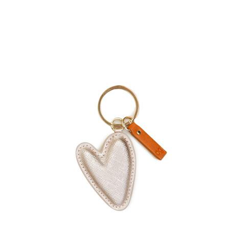Caroline Gardner Rose Gold Heart-Shaped Keyring - Gold