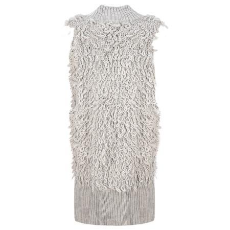Foil Loopy Waistcoat - Grey