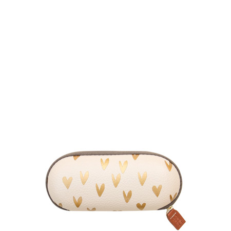 Caroline Gardner Metallic Hearts Glasses Case - Gold