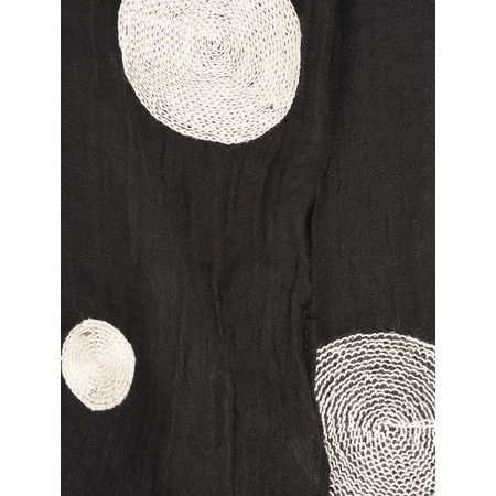 Foil Bold Spot Print Scarf - Black