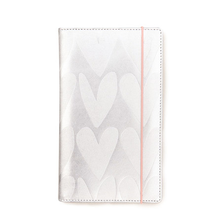 Caroline Gardner Hearts Travel Wallet - Metallic