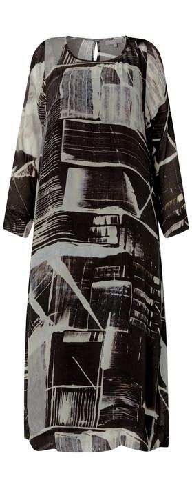 Sahara Window Pane Print Dress Multi