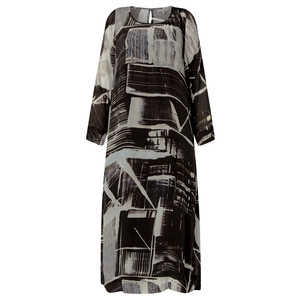 Sahara Window Pane Print Dress