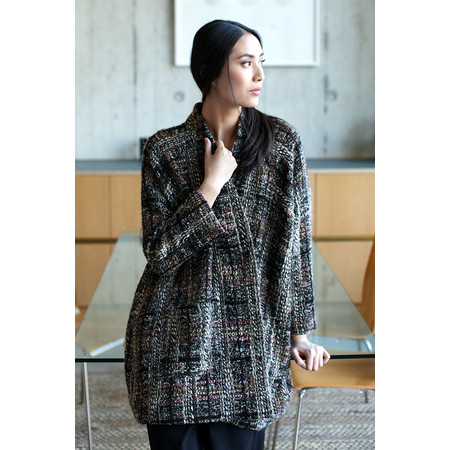 Sahara Tweed Mix Check Coat - Multicoloured