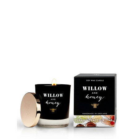 Willow and Honey Cuban Tobacco And Oak Candle - Transparent