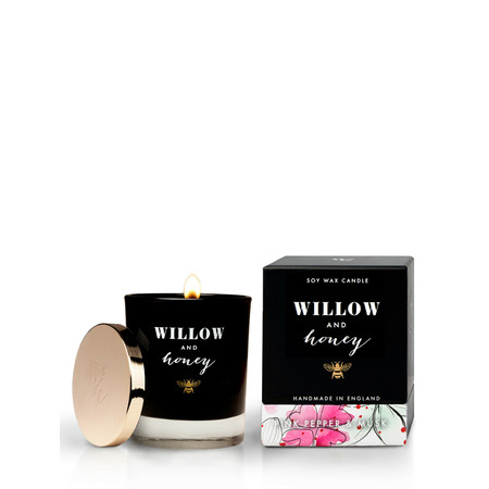 Willow and Honey Pink Pepper And Musk Candle - Transparent