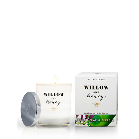 Willow and Honey French Pear And Freesia Candle - Transparent