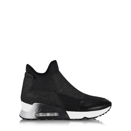 Ash Lazer Glitter Trainer Shoe - Black
