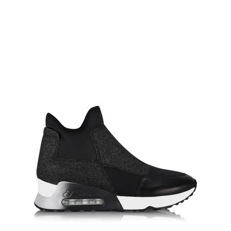 Ash Lazer Glitter Trainer Shoe - Black