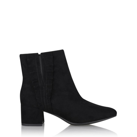 Tamaris  Daphne Ruffle Ankle Boot - Black