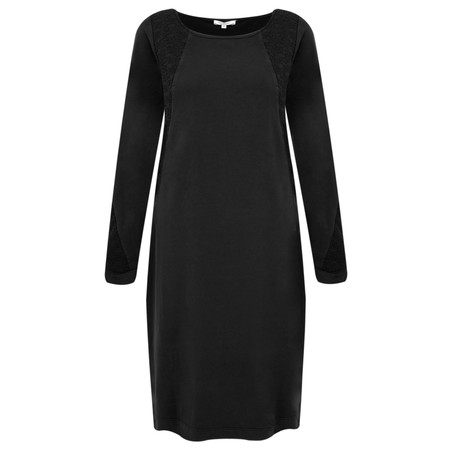 Sandwich Clothing French Terry Star Panel Dress - Black