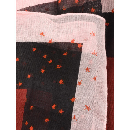 Sandwich Clothing Modal Woven Little Star Scarf - Red