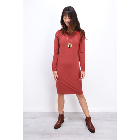 Sandwich Clothing French Terry Star Panel Dress - Red