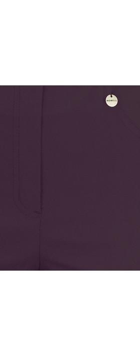 Robell Trousers Bella 7/8 Ankle Length Trouser Dark Violet 581