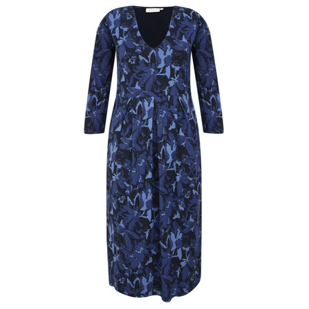 Masai Clothing Ninet Abstract Floral Dress - Blue