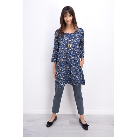 Masai Clothing Goella Abstract Circle Print Tunic - Blue