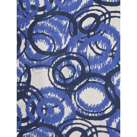 Masai Clothing Abstract Circle Print Along Scarf - Blue