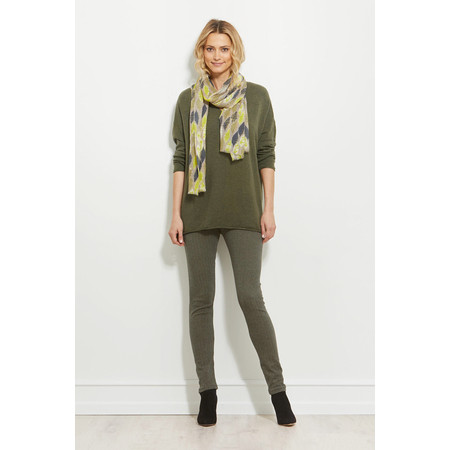 Masai Clothing Franca V-neck Knit Jumper - Green