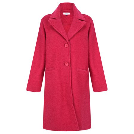 Adini Ferrara Wool Claudia Coat - Red