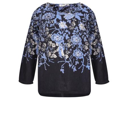 Masai Clothing Beate Floral Print Top - Blue