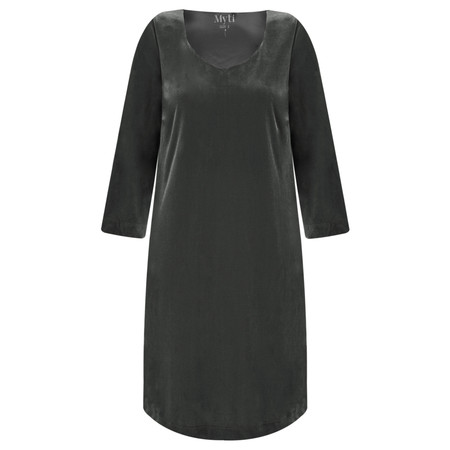 Myti by Myrine Plain Velvet Dress - Grey