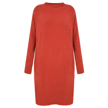Mama B Oversized Bilbao Midi Knit Dress - Red