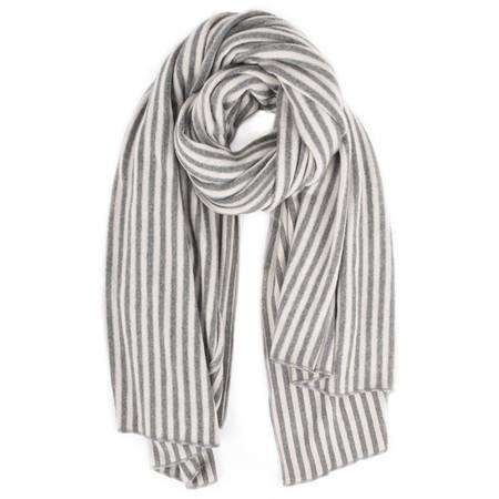 Mama B Sciarpa Stripe Blanket Scarf - Beige