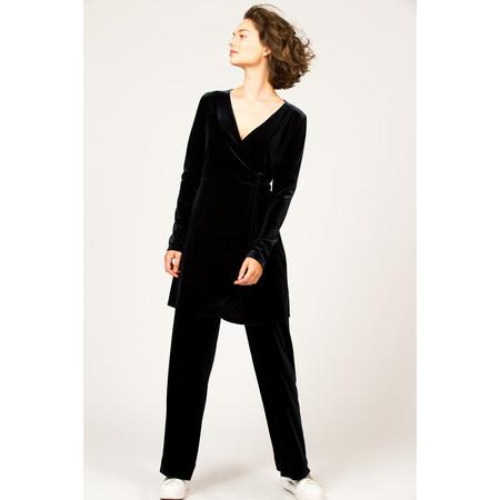Myti by Myrine Velvet Wrap Dress - Black